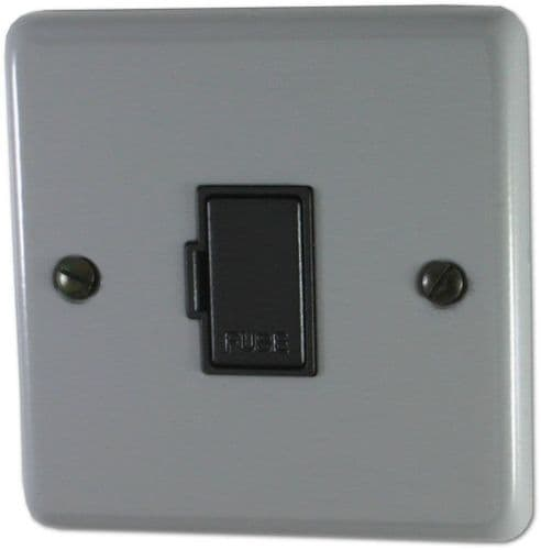 G&H CLG90B Standard Plate Light Grey 1 Gang Fused Spur 13A Unswitched